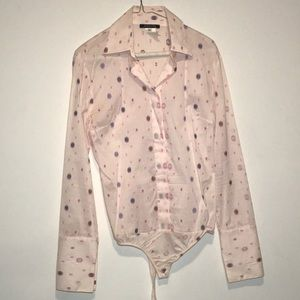 Patrizia Pepe pink pattern button down shirt 44